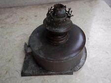 Antica lampada a petrolio in ferro e ottone da NAVE REGIA MARINA con matricola