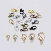 50pcs Alloy lobster Clasp Hooks For Necklace Bracelet Chain DIY Jewelry Making~~