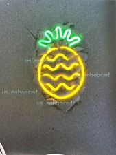 New Pineapple Fruit Wall Decor Bedroom Light Lamp Poster Acrylic Neon Sign 14''