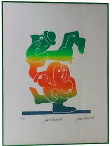 JEAN SARIANO Just Married SIGNED & NUMBERED Relief PRINT Nude Pop Art MCM 28/50