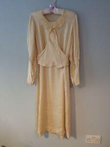 Antique Edwardian Silk Wedding Dress