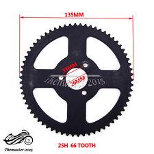 25H 66 Tooth Rear Chain Sprocket For 2 Stroke 47cc 49cc Mini Moto Pocket Bike