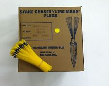 """Smi-Carr 6"""" Stake Chaser® Whiskers/Line Mark® Flags, Yellow - 1000 Count"""