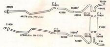 1972 CHEVY NOVA & CHEVY II DUAL EXHAUST SYSTEM, ALUMINIZED, 327 & 350 ENGINES