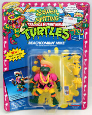 TMNT TEENAGE MUTANT NINJA TURTLES BEACHCOMBIN MIKE RARE W/ZOLO CASE  MOC 1992