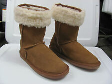 Genuine Suede Leather Womens Boots Size 5 - Detachable Faux Fur Collar MeBootz