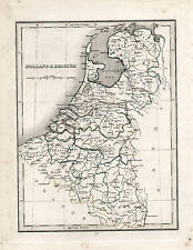 Antique Map Holland Belgium 1835 Bradford Antwerp Liege