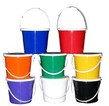 8 BUCKETS LIDS RED BLUE GREEN PURPLE YELLOW WHITE ORANGE WHITE MFG USA NO BPA