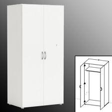 KLEIDERSCHRANK 5057 weiß ~166x80x51cm Schlafzimmer Schrank Garderobe Diele Flur