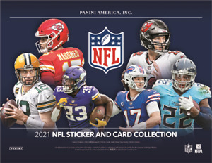 2021 Panini NFL Football Sticker & Card Collection 20 Box Case Factory Sealed