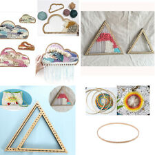 6 Set Wooden Knitting Loom Craft Weaving Tool for DIY Handmade Wall Hangings