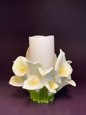 Ibis & Orchid Calla Lily Pillar Candle Holder