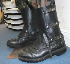 VINTAGE SWISS ARMY LEATHER LEG GAITERS