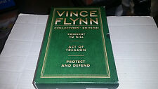 Vince Flynn Collector's Edition Volume 3 SIGNED HC 1st/1st 3 Books Green
