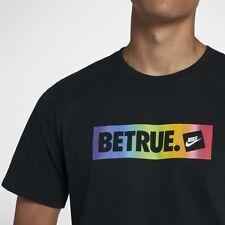 Nike Be True Gay Pride Lgbtq MultiColor Rainbow Tee Shirt Top Cd9076-010 Men's L