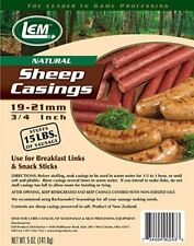 Air Tight 5 oz Vacuum Sealed Bag Sheep Casings for 15 lbs Meat & Sausage by LEM