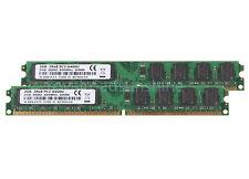 Brand 4GB Intel Kit 2X 2GB PC2-6400U 2RX8 DIMM Desktop Memory RAM DDR2 800MHz