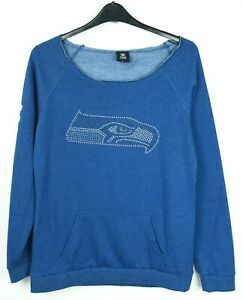 SEATTLE SEAHAWKS Womens L Sweatshirt Pullover Jumper NFL Sweater Football M Top