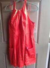 Jessica Simpson Dress Size 14 Coral Blush Casual Halter Cotton  NWT JS3M2556