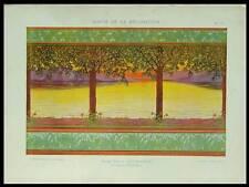 FRISE ART NOUVEAU - 1898 - LITHOGRAPHIE, CHARLES HOUDARD, PAYSAGE
