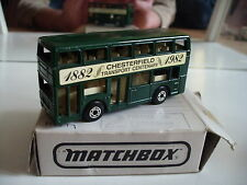 """Matchbox London Bus """"Chesterfield Transport Centenary"""" in Green in Box"""