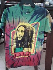Bob Marley & the Wailers 'Reggae Revolution' Tie Dye Cotton T-Shirt, sz S, NWT