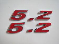 DODGE 5.2 5.2L 318 CID ENGINE ID FENDER HOOD SCOOP QUARTER TRUNK EMBLEMS - RED