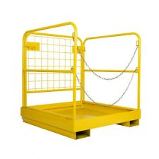 """Heavy Duty Forklift Safety Cage Work Platform 36"""" x 36"""" Durable 900lbs Capacity"""