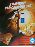PUBLICITÉ DE PRESSE 1980 SYMPHONY PAR CAMPING GAZ - ALADIN