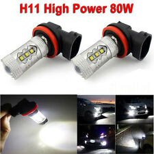 2pcs/set H11 16 LED 80W Fog Tail Driving Car Head Light Bulb White Lamp 6000K