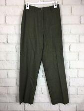 Lauren Ralph Lauren $165 Olive Green Mohair Wool Career Dress Pants Size 6 P