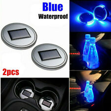 Solar Led Cup Pad Car Accessories Light Cover Interior Decoration Lights 2pack
