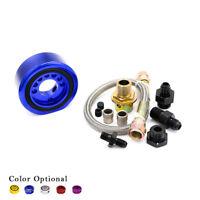 BLACK RACING OIL COOLER FILTER ADAPTER PLATE FOR 06-11 HONDA CIVIC SI FA5 K20