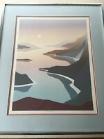 Warren Woodward Quiet Bay II Abstract Serigraph Framed Print, Signed & Numbered