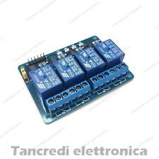 Scheda 4 relè 12Vdc Relay Shield Optoisolatori 12V modulo (Arduino-Compatibile)