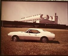 1960's Pontiac Firebird RARE photograph RARE CAR W REAR BUTTRESSES,Historic Bldg