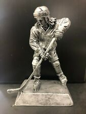 Girls Hockey Player Statue Award Trophies Silver Painted Resin Highly Detailed