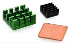 Für Raspberry Pi 3/2 Modell B / B + 3x Aluminium Kühlkörper Kühl Kit QP