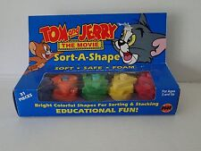 1992 TOM & JERRY The Movie Sort-A-Shape Sorting and Stacking Foam Puzzle Ages 3+