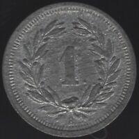 1944 B Switzerland 1 Rappen Coin   European Coins   Pennies2Pounds