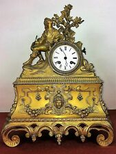 MANTEL CLOCK. BRONZE ORMOLU. NAPOLEON STYLE III. FRANCE(?). CIRCA 1850