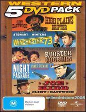 HIGH PLAINS DRIFTER - WINCHESTER 73 - ROOSTER COGBURN - JOE KIDD (5 DVD SET) NEW