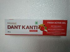 2X Patanjali Dant Kanti Toothpaste Fresh Active Gel Healthy & Strong Teeth 80 g