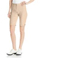 Adidas Golf Women's Essentials Lightweight Bermuda Shorts Lite Khaki Size 0