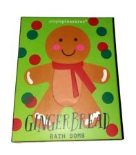 Gingerbread Man Bath Bomb Ginger Skin Moisturing Bubbles Perfect Christmas Gift