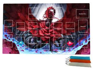 Black Rose Dragon playmat TCG/MTG Master Rule 4 Zones Custom yugioh mat Free bag