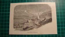 Samedan Oberengadin Engadin holzstich antique print 1892