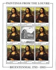 GUYANA 1993 PAINTINGS / LOUVRE MUSEUM = FRANCE M/S MNH LEONARDO, MONA LISA