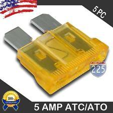 5 Pack 5 AMP ATC/ATO STANDARD Regular FUSE BLADE 5A CAR TRUCK BOAT MARINE RV US
