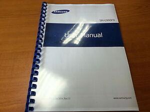 SAMSUNG GALAXY S5 DUAL SIM  SM-G900FD PRINTED INSTRUCTION MANUAL GUIDE 245p A5
